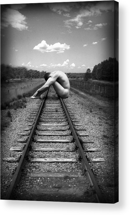 Photo Collage Acrylic Print featuring the photograph Tracks by Chance Manart
