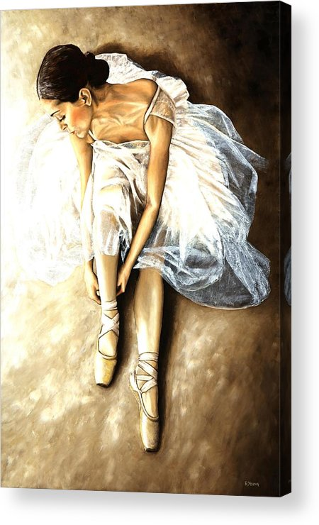 Ballet Acrylic Print featuring the painting Tranquil Preparation by Richard Young