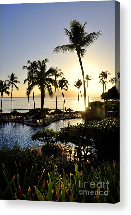 Maui Acrylic Print featuring the photograph Tropical Dream by Rosy Kueng