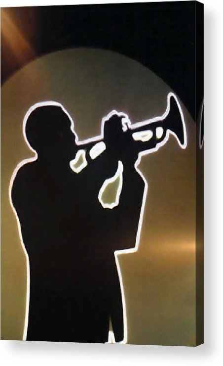 Classic Acrylic Print featuring the photograph Trumpet - Classic Jazz Music All Night Long by Christine Till