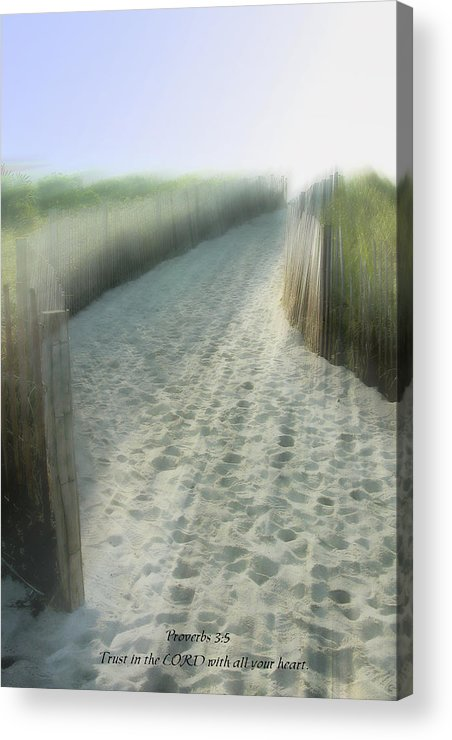 Religion Acrylic Print featuring the photograph Trust In The Lord by Rich Stedman