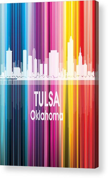 Tulsa Acrylic Print featuring the digital art Tulsa Ok 2 Vertical by Angelina Tamez