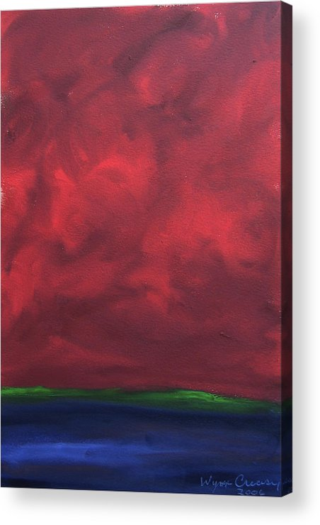 Abstract Landscape Acrylic Print featuring the painting Turmoil by Wynn Creasy