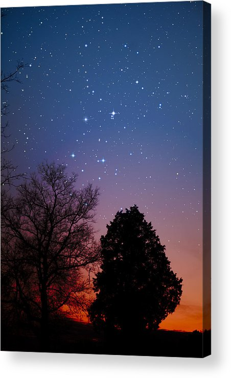 Stars Acrylic Print featuring the photograph Twilight Transitions by Charles Warren