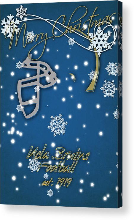 Ucla Bruins Acrylic Print featuring the photograph Ucla Bruins Christmas Card by Joe Hamilton