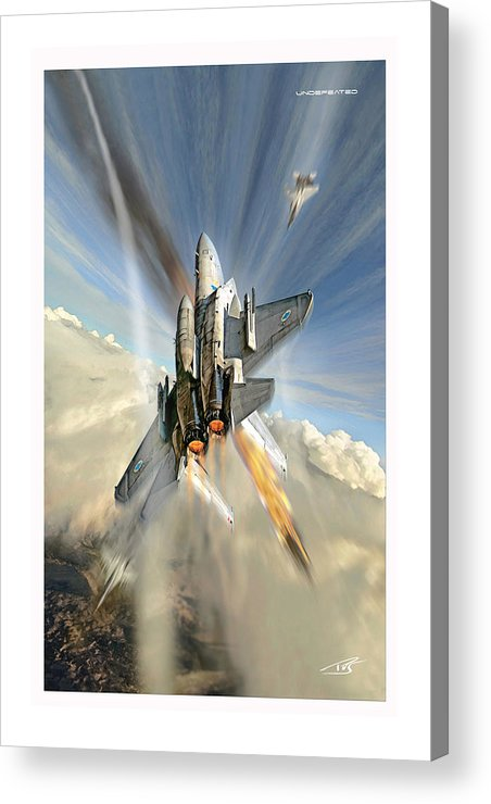 War Acrylic Print featuring the digital art Undefeated by Peter Van Stigt