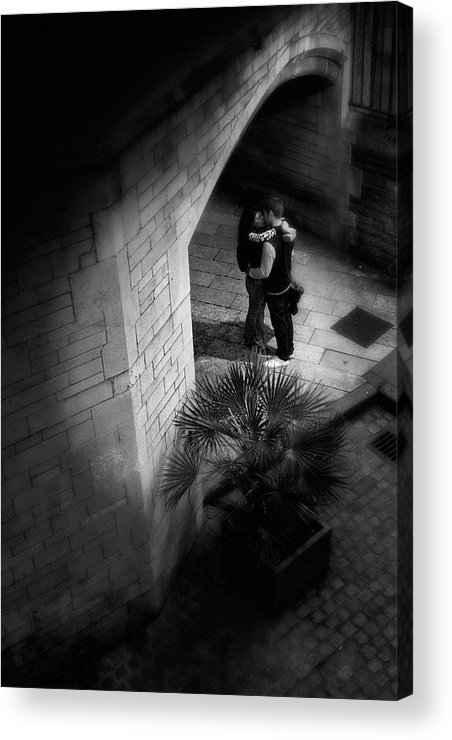 Dark Acrylic Print featuring the photograph Under The Arch. by Luigi Petro