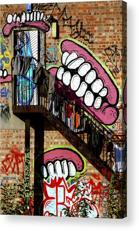 Jez C Self Acrylic Print featuring the photograph Underteeth The Stairs 2 by Jez C Self