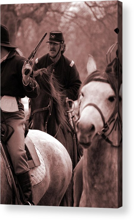 Civil War Acrylic Print featuring the photograph Union Cavalry by Jame Hayes