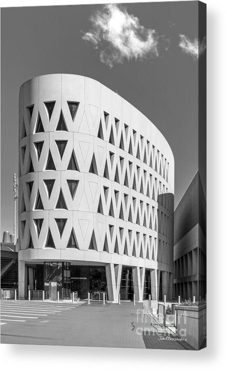 American Acrylic Print featuring the photograph University Of Cincinnati Lindner Center by University Icons
