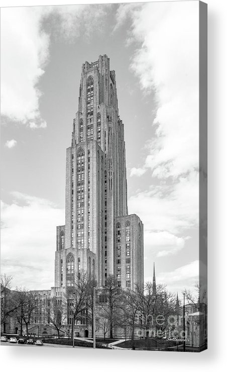 Aau Acrylic Print featuring the photograph University Of Pittsburgh Cathedral Of Learning by University Icons
