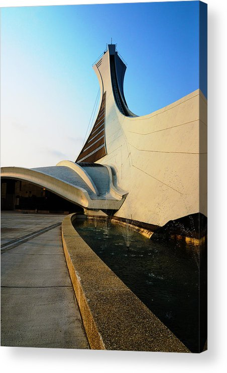 Olympique Acrylic Print featuring the photograph up by Jean-Marc Robert