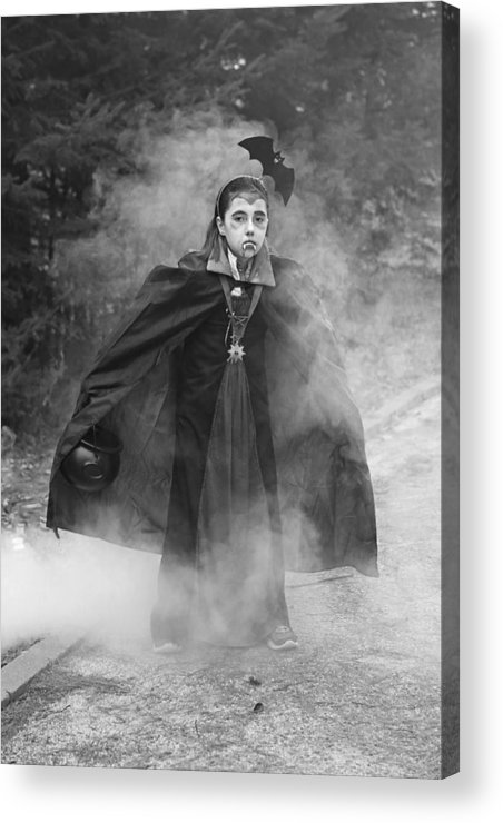 Halloween Acrylic Print featuring the photograph Vampire In The Fog by Barbara West