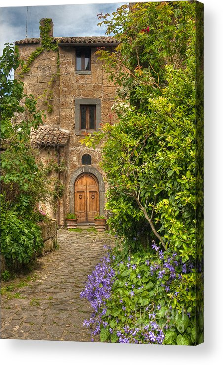Italy Acrylic Print featuring the photograph Village Lane by Colette Panaioti