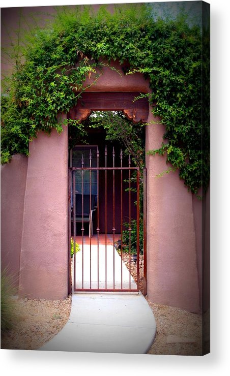 Vine Acrylic Print featuring the photograph Vine Covered Entry by Bob Gardner