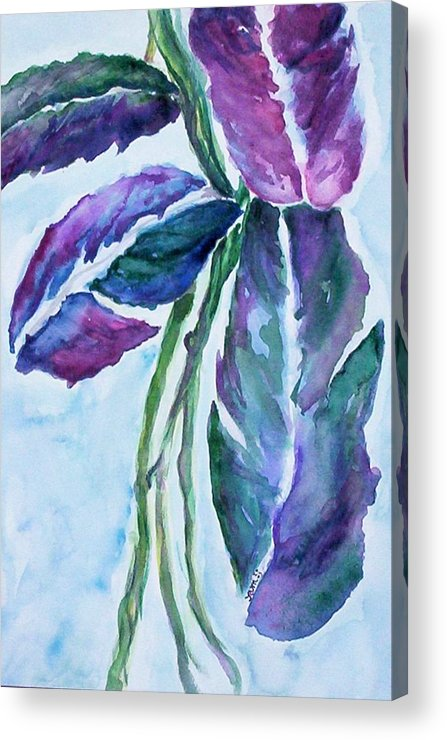 Landscape Acrylic Print featuring the painting Vine by Suzanne Udell Levinger