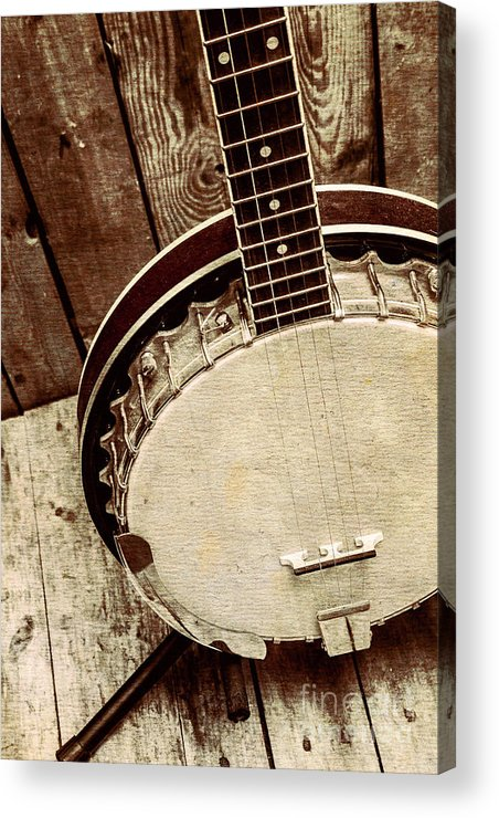 String Acrylic Print featuring the photograph Vintage Banjo Barn Dance by Jorgo Photography - Wall Art Gallery