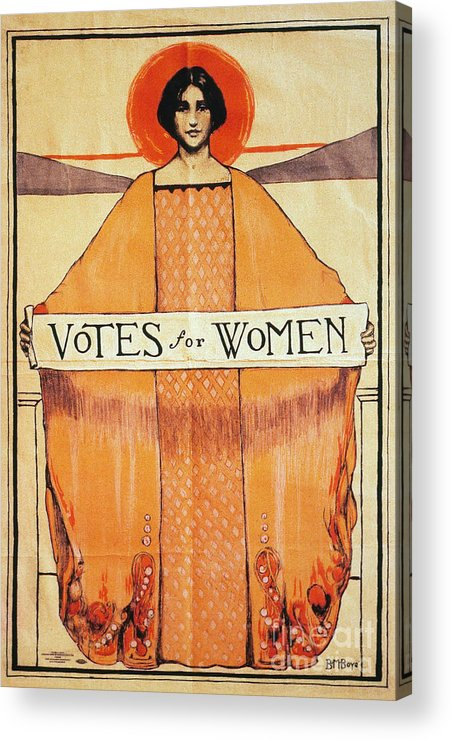 1911 Acrylic Print featuring the photograph Votes For Women, 1911 by Granger