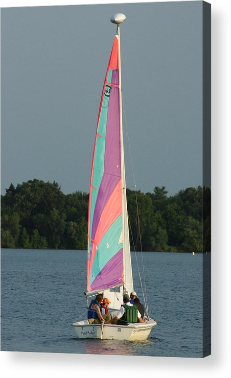 Sail Acrylic Print featuring the photograph Waiting For The Wind by Ron Read