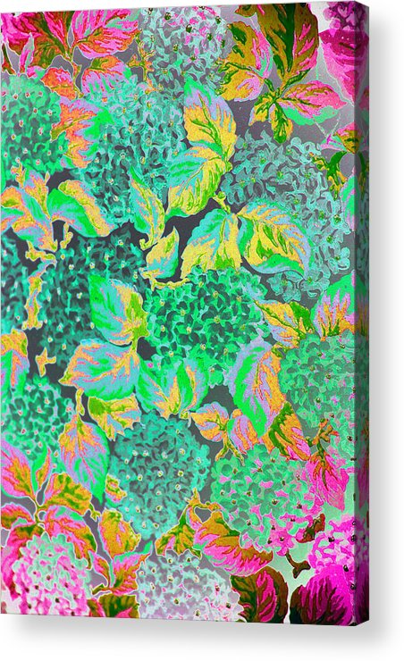 Abstract Acrylic Print featuring the digital art Wall Paper by John Toxey