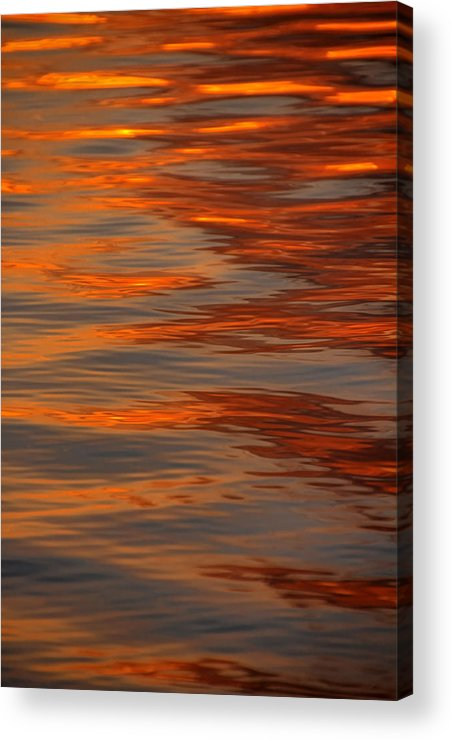 Sunrise Acrylic Print featuring the photograph Water Abstract 1 1 14 by Carolyn Fletcher