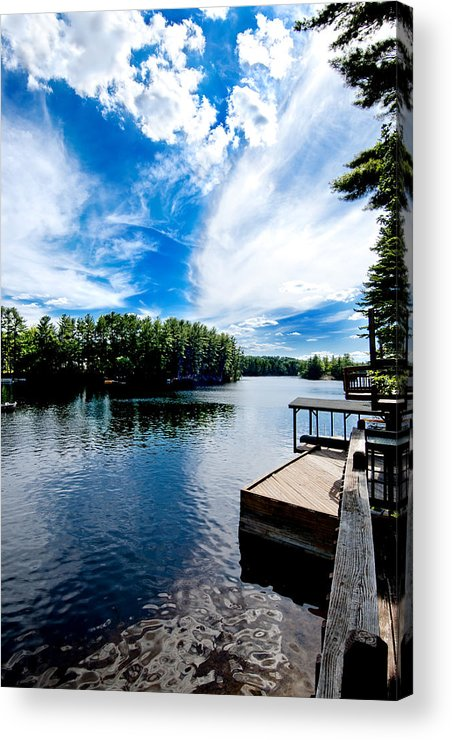 Water Acrylic Print featuring the photograph Water Mirrors Sky by Greg Fortier