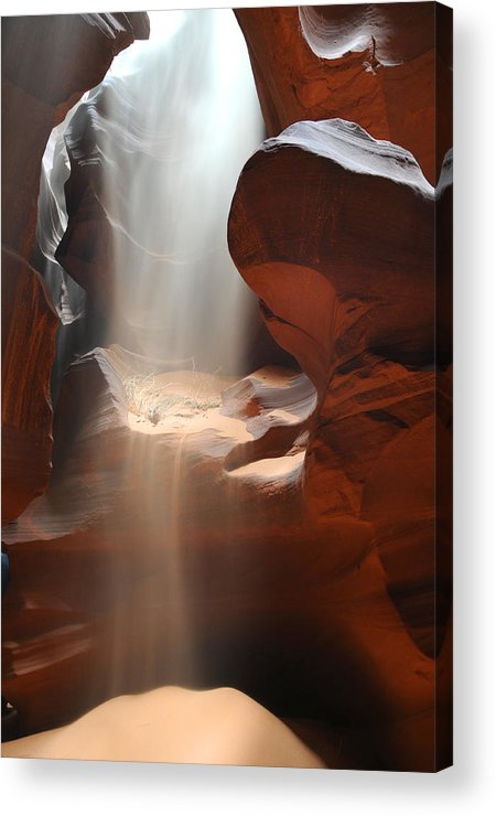Antelope Canyon Arizona Slot Acrylic Print featuring the photograph Waterfall Of Sand 2 by Jon Daly