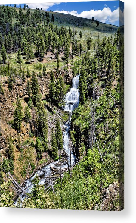 Water Acrylic Print featuring the photograph Waterfall On Lava Creek 1 by John Trommer