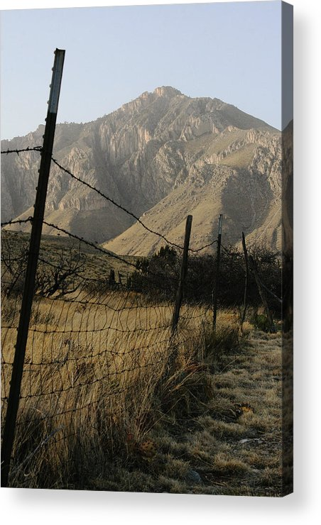 Texas Acrylic Print featuring the photograph West Texas April 2008 by Brian M Lumley