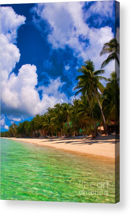 Asia Acrylic Print featuring the photograph White Beach Boracay by Joerg Lingnau