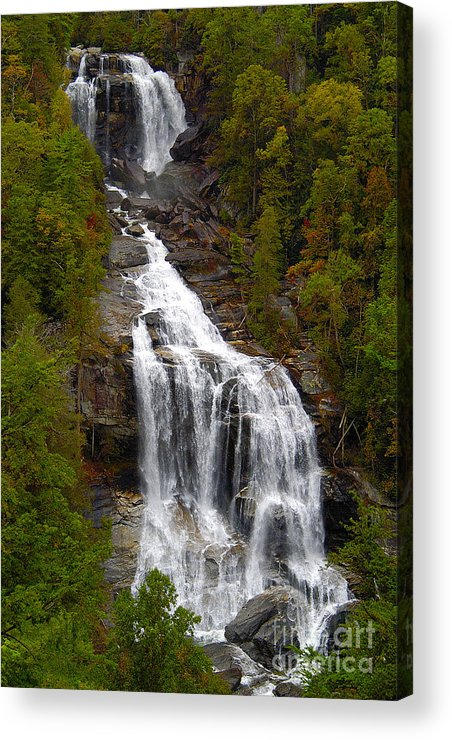 Waterfall Acrylic Print featuring the photograph Whitewater Falls by Neil Doren