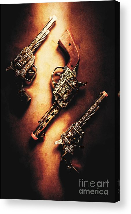 Toy Acrylic Print featuring the photograph Wild West Cap Guns by Jorgo Photography - Wall Art Gallery
