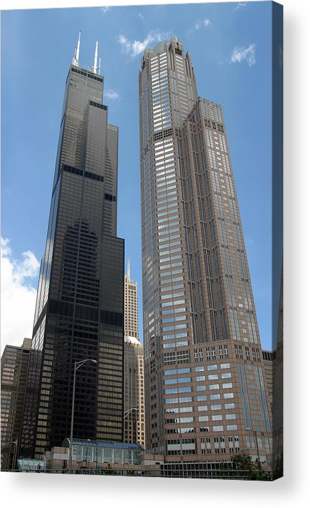 3scape Acrylic Print featuring the photograph Willis Tower Aka Sears Tower And 311 South Wacker Drive by Adam Romanowicz