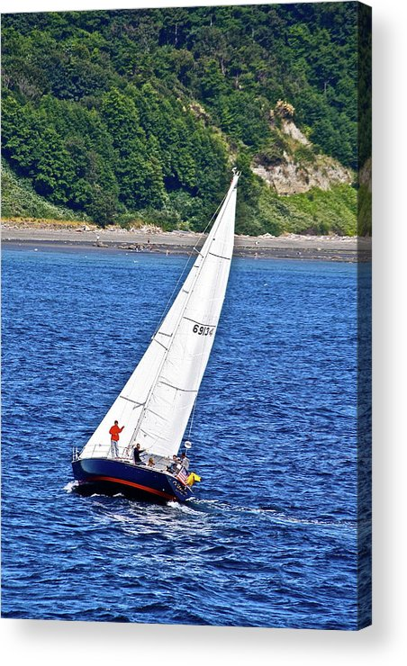 Boat Acrylic Print featuring the photograph Wind Friend by Diana Hatcher