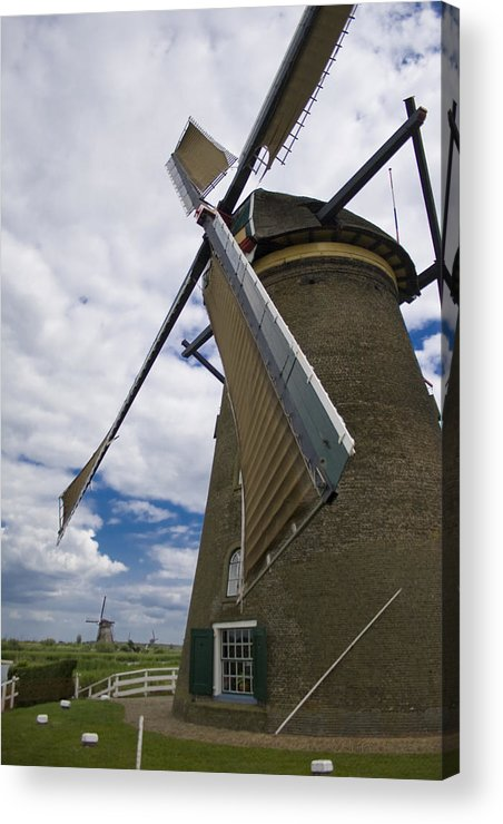 Windmill Acrylic Print featuring the photograph Windmill In Motion by Joshua Francia