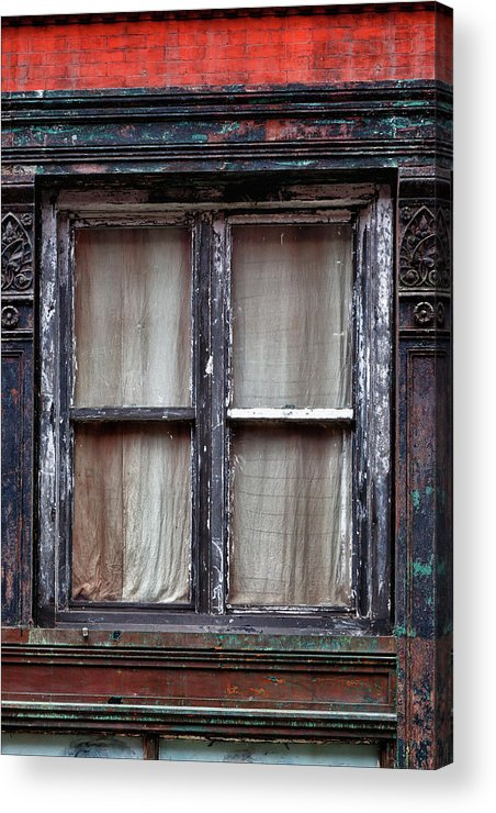 Window Acrylic Print featuring the photograph Window In Old Building by Robert Ullmann