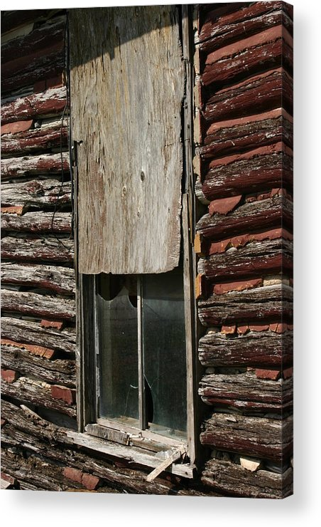 Acrylic Print featuring the photograph Winslow Cabin Window by Curtis J Neeley Jr