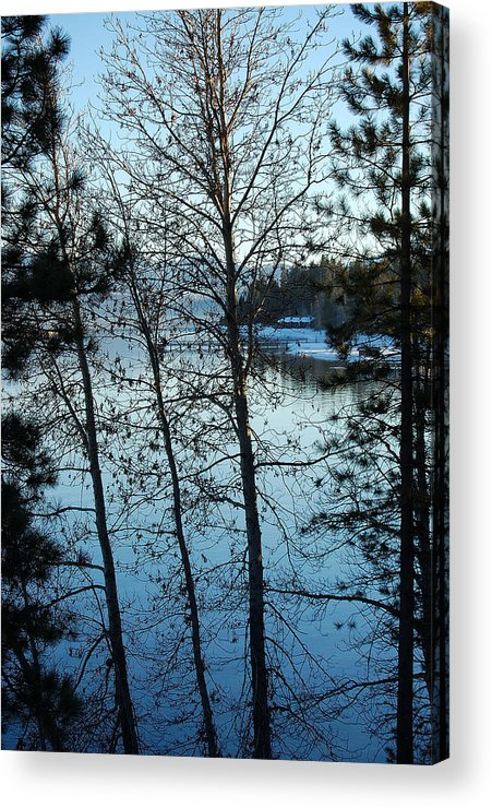 Photography Acrylic Print featuring the photograph Winter Water Blues by Heather S Huston