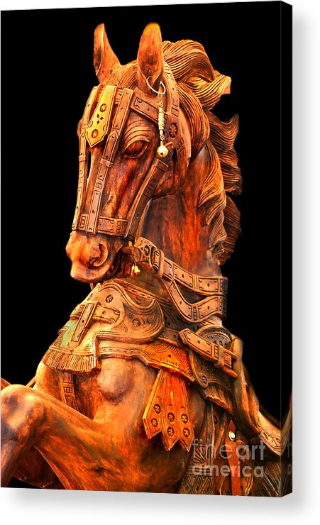 Horse Acrylic Print featuring the photograph Wooden Horse by Charuhas Images