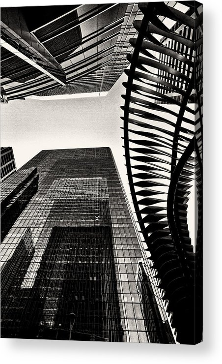 Architecture Acrylic Print featuring the photograph Woven by Russell Styles