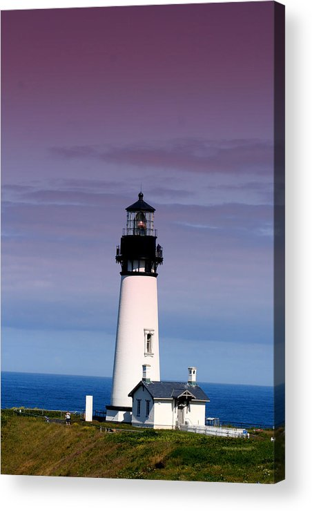 Lighthouse Acrylic Print featuring the photograph Yakuina Head Lighthouse Li201 by Mary Gaines