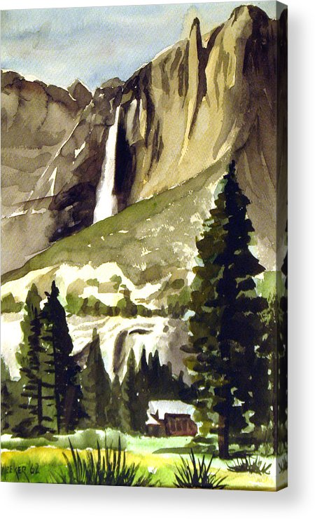 Watercolor Acrylic Print featuring the painting Yosemite IIi by Bill Meeker