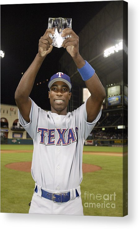 Alfonso Soriano Acrylic Print featuring the photograph 75th All-star Game 1 by Rich Pilling