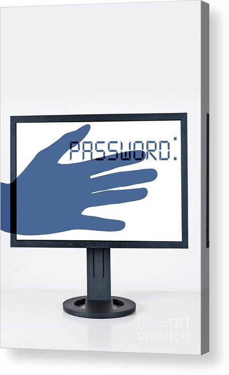 Indoors Acrylic Print featuring the photograph Cybercrime And Online Password Theft by Cristina Pedrazzini/science Photo Library