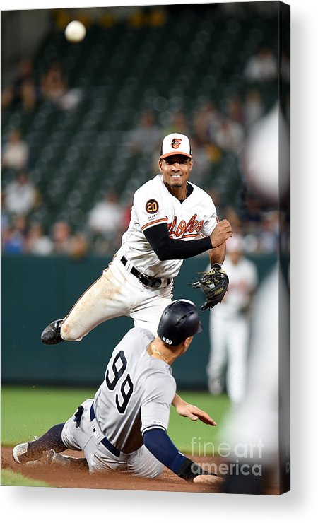People Acrylic Print featuring the photograph New York Yankees V Baltimore Orioles 1 by Greg Fiume