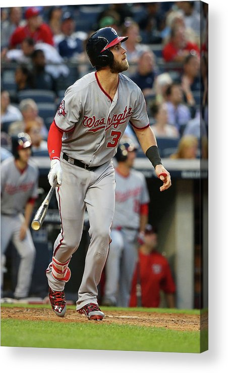 People Acrylic Print featuring the photograph Washington Nationals V New York Yankees 1 by Mike Stobe