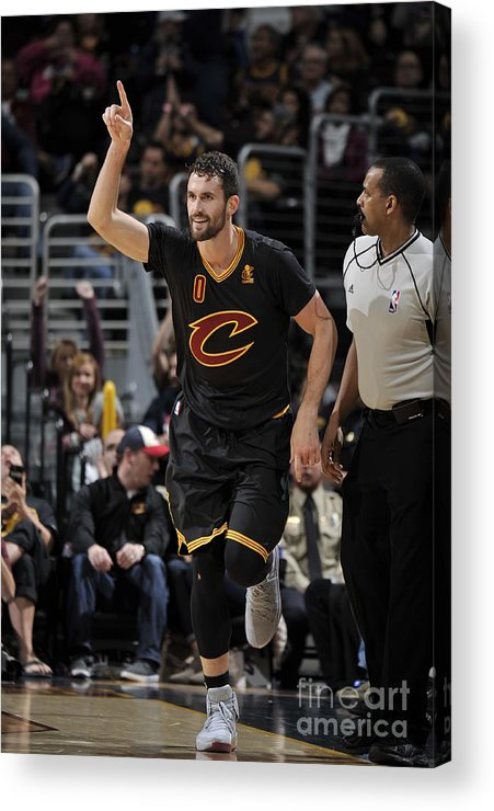 Nba Pro Basketball Acrylic Print featuring the photograph New York Knicks V Cleveland Cavaliers 13 by David Liam Kyle