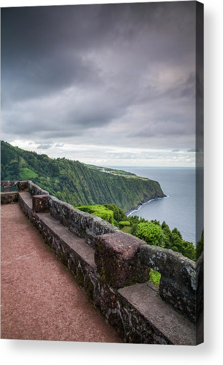 Azores Acrylic Print featuring the photograph Portugal, Azores, Sao Miguel Island by Walter Bibikow