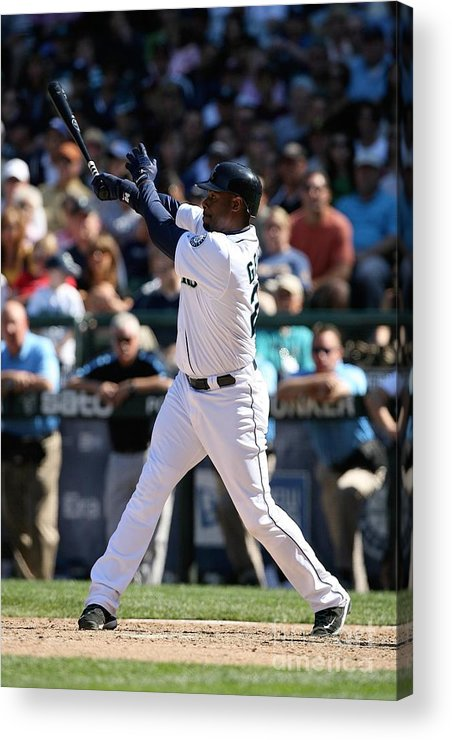 People Acrylic Print featuring the photograph New York Yankees V Seattle Mariners 18 by Otto Greule Jr