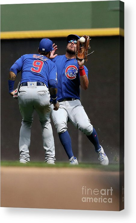 People Acrylic Print featuring the photograph Chicago Cubs V Milwaukee Brewers 19 by Dylan Buell